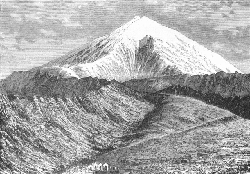 Associate Product TURKEY. Mount Ararat c1885 old antique vintage print picture