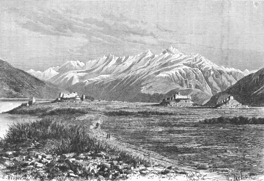 AFGHANISTAN. Kila-Panja, Upper Oxus. Forts Pamir c1885 old antique print