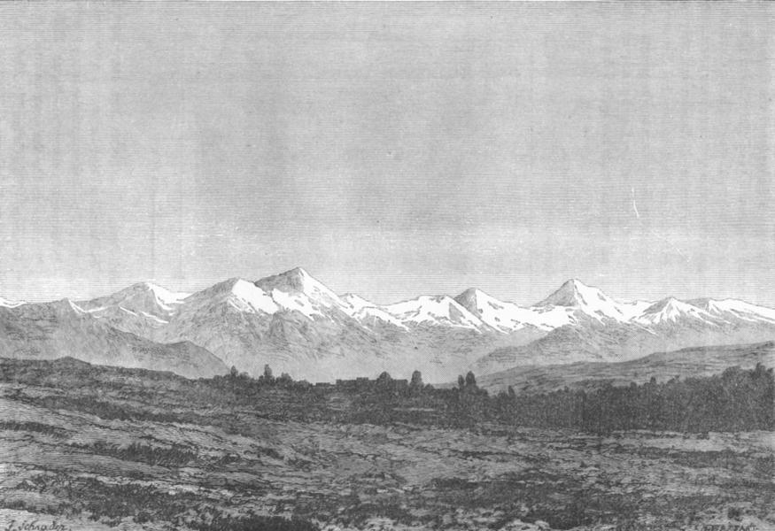 TAJIKISTAN. Khujand c1885 old antique vintage print picture