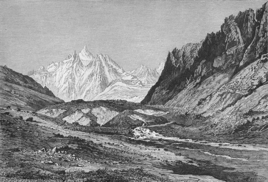 Associate Product GEORGIA. Schurovsky Glacier c1885 old antique vintage print picture