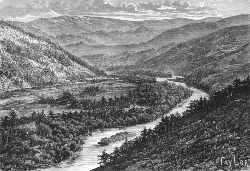 Associate Product KAZAKHSTAN. Bukhtarma Valley, Altai-Highlands c1885 old antique print picture