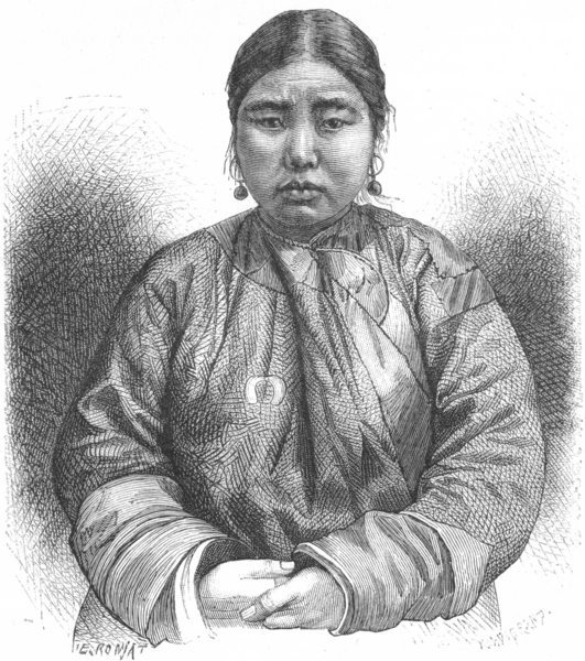 Associate Product RUSSIA. Aino Girl c1885 old antique vintage print picture