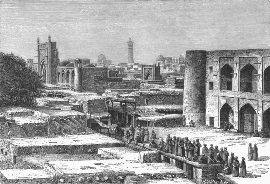 Associate Product UZBEKISTAN. Khiva c1885 old antique vintage print picture
