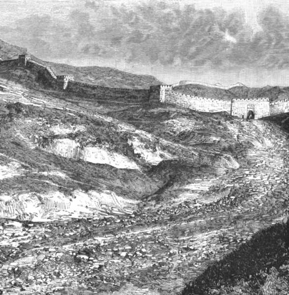 Associate Product CHINA. Great Wall view at Nankow pass c1885 old antique vintage print picture