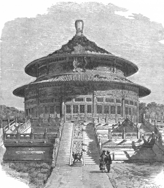 Associate Product CHINA. Temple of Heaven, Beijing c1885 old antique vintage print picture