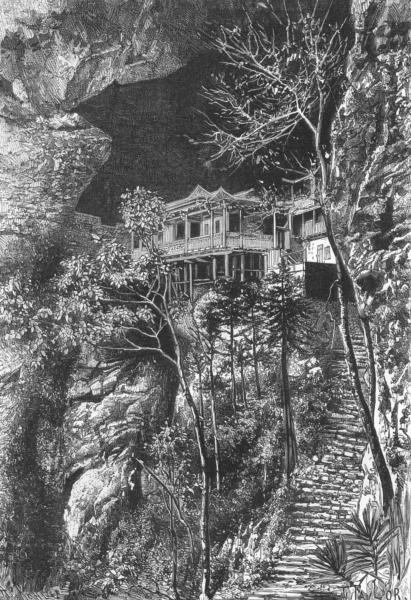 Associate Product FUCHU FU. Buddhist Monastery Yuen-Fu, Min, S Fuchu  c1885 old antique print