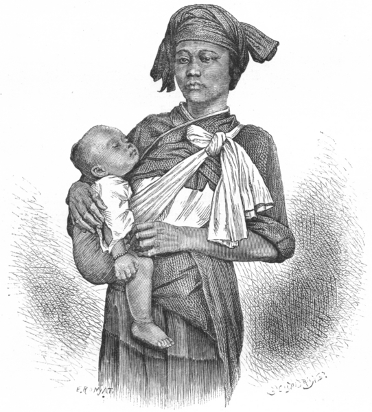 Associate Product CHINA. Pepo-Hoan Woman & Child c1885 old antique vintage print picture