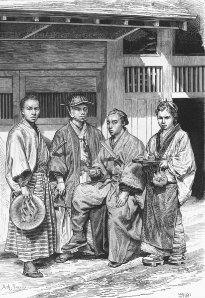 Associate Product JAPAN. Types & costumes of Citizens Tokyo c1885 old antique print picture