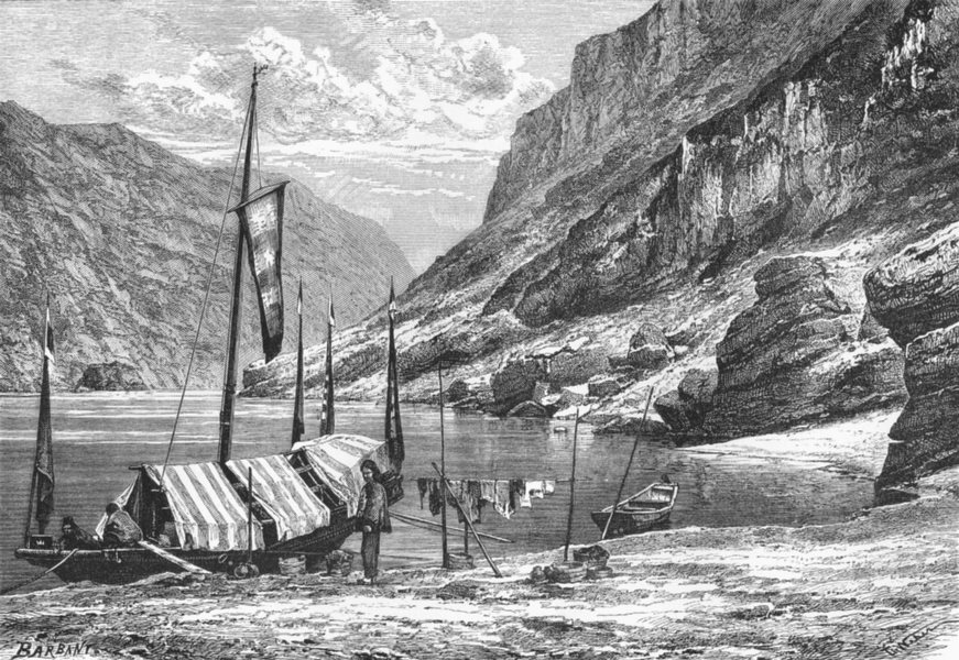 Associate Product CHINA. River Upper Yangtze-Kiang c1885 old antique vintage print picture