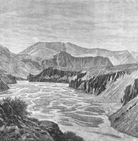Associate Product INDIA. Erosions of Spiti river Parang pass c1885 old antique print picture