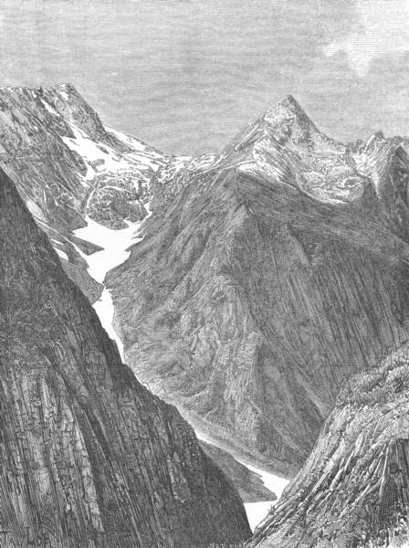 Associate Product INDIA. Zoji pass c1885 old antique vintage print picture