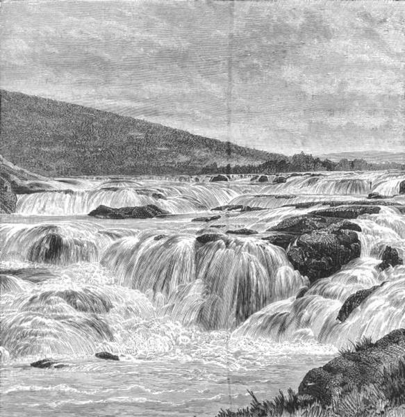 Associate Product INDIA. Paikari falls, Nilghiris c1885 old antique vintage print picture