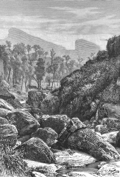 Associate Product SRI LANKA. Landscape-Ramboda Plantation c1885 old antique print picture