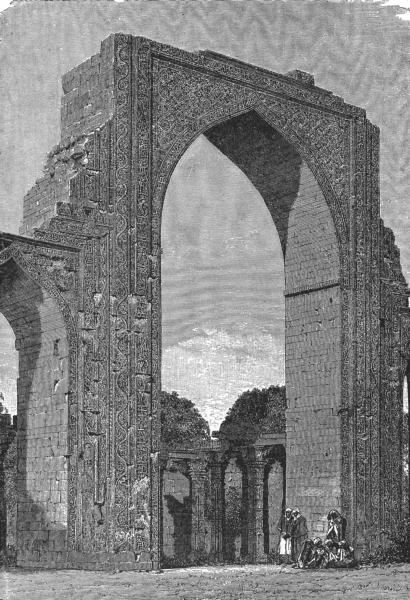 INDIA. Kutal Mosque, Delhi District c1885 old antique vintage print picture