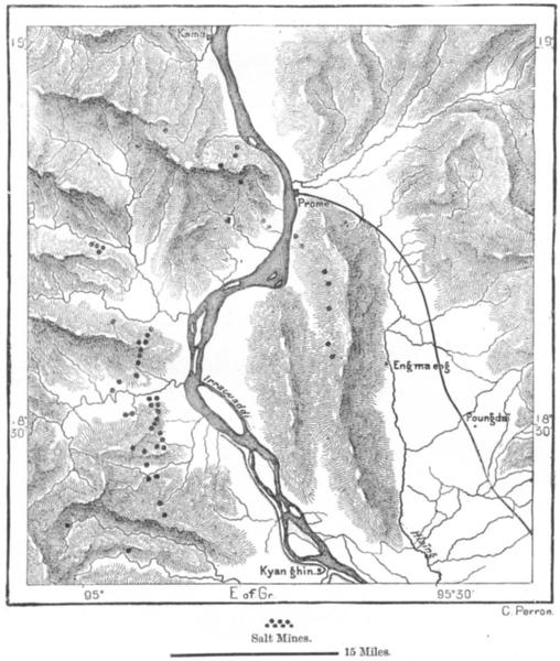 Associate Product BURMA. Pyay Salt Mines, sketch map c1885 old antique vintage plan chart