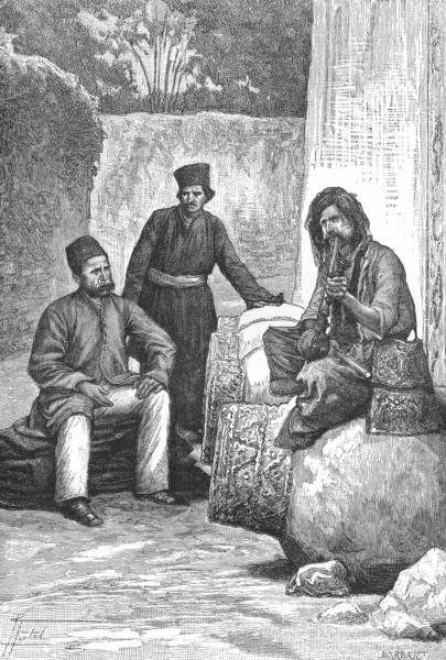 Associate Product IRAN. Persian dress-Nobleman, Dervish Mendicant c1885 old antique print