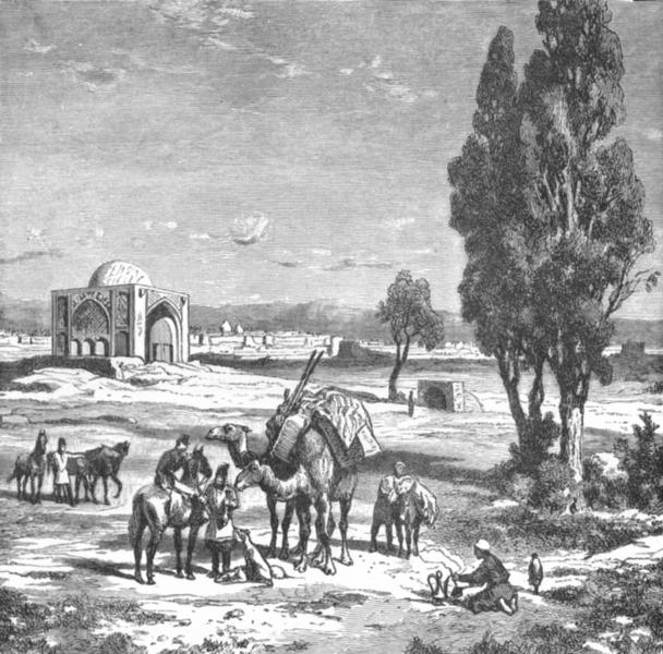 IRAN. Tehran-view, Kasoni Route c1885 old antique vintage print picture