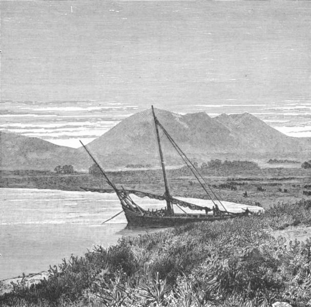 Associate Product TURKEY. Lake Van Tadwan Bay & Mount Nemrut c1885 old antique print picture
