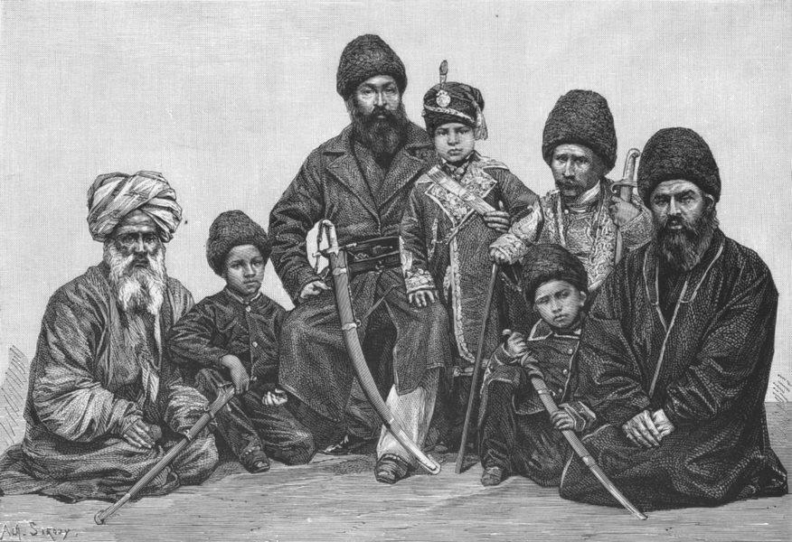 Associate Product AMIR SHER ALI. Prince Abdallah Yan Durani Chiefs c1885 old antique print