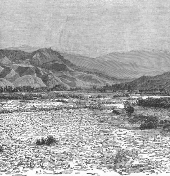 Associate Product TURKEY. Tmolus Valley, Plain of Sardis c1885 old antique vintage print picture