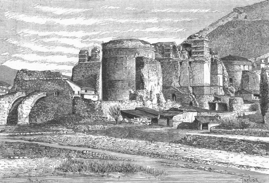 Associate Product TURKEY. Pergamus-ruins, Basilica c1885 old antique vintage print picture