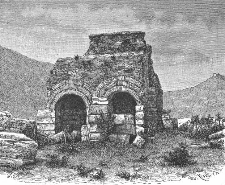 Associate Product TURKEY. Ephesus-jail of St Paul c1885 old antique vintage print picture