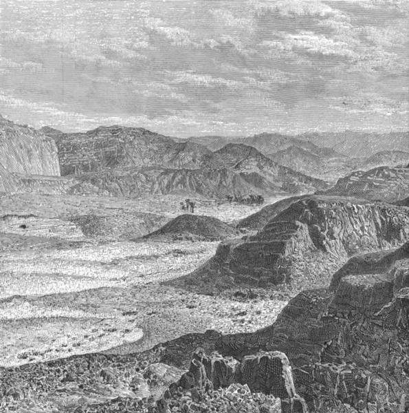 Associate Product EGYPT. Peninsular of Sinai-Ain-El-Huderah c1885 old antique print picture