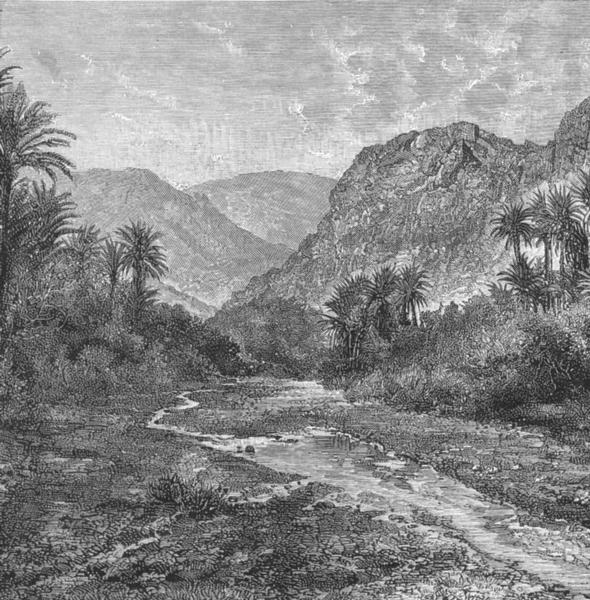 Associate Product SINAI. Landscape, Peninsular-view at Raphidim c1885 old antique print picture
