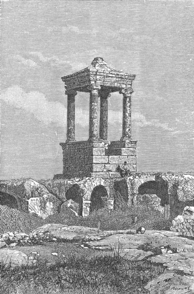 SYRIA. Ancient tomb of Dana c1885 old antique vintage print picture