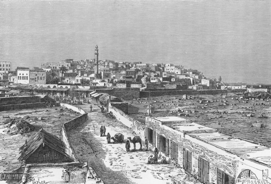 Associate Product ISRAEL. Jaffa  c1885 old antique vintage print picture