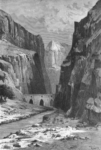 Associate Product IRAN. Kelat-I-Nadir-Arghavan-Shah Gorge c1885 old antique print picture