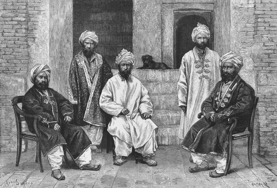 Associate Product AFGHANISTAN. Types & costumes-Hazarehs c1885 old antique vintage print picture