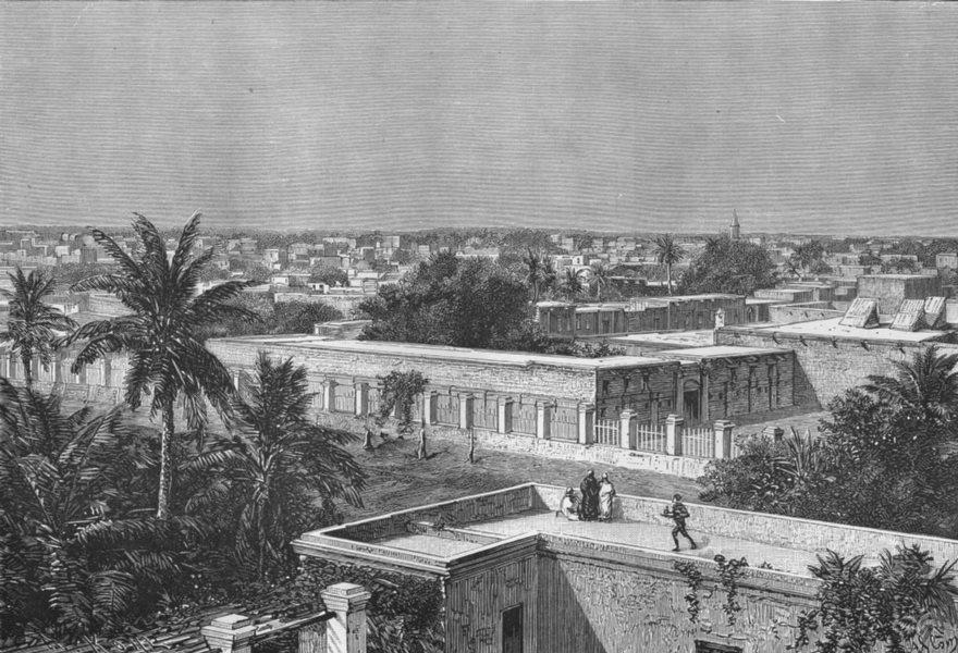 Associate Product SUDAN. Khartoum c1885 old antique vintage print picture