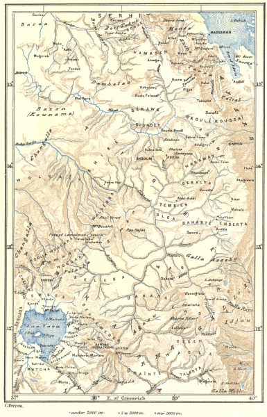 Associate Product ETHIOPIA. North Abyssinia c1885 old antique vintage map plan chart