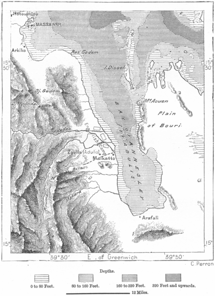 Associate Product ERITREA. Gulf of Zula, sketch map c1885 old antique vintage plan chart