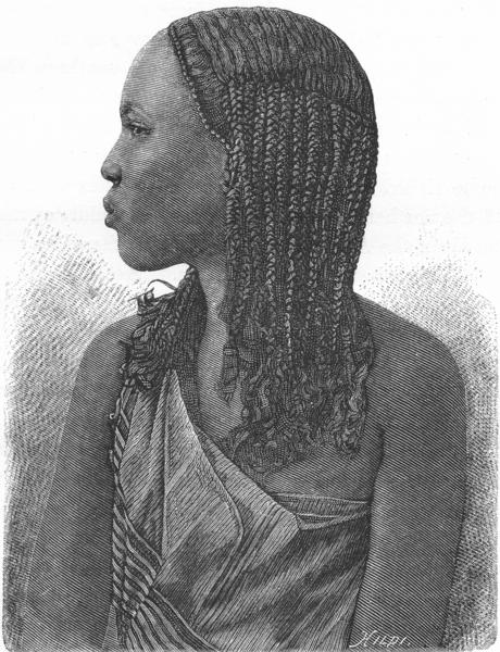 Associate Product SOMALIA. Somali Girl c1885 old antique vintage print picture