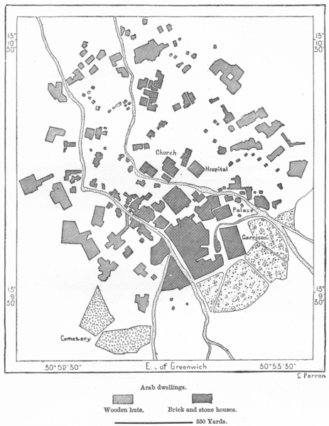 Associate Product SUDAN. El-Obeid, sketch map c1885 old antique vintage plan chart