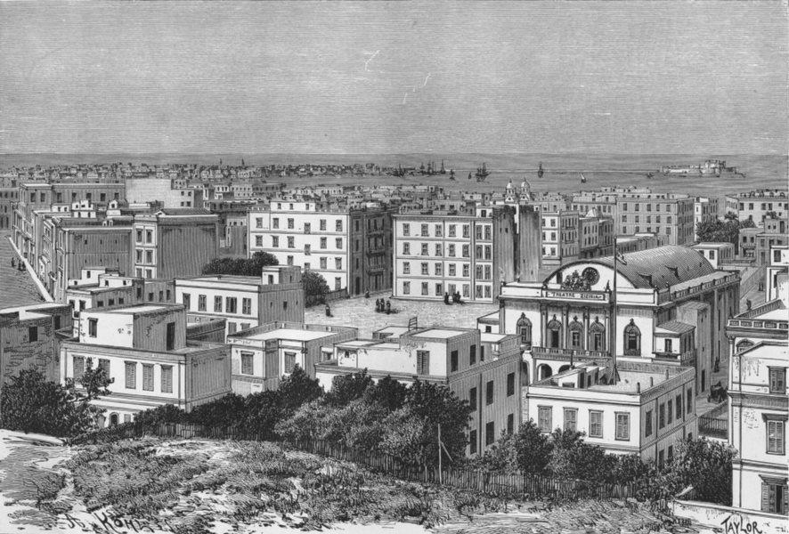 Associate Product EGYPT. Alexandria c1885 old antique vintage print picture
