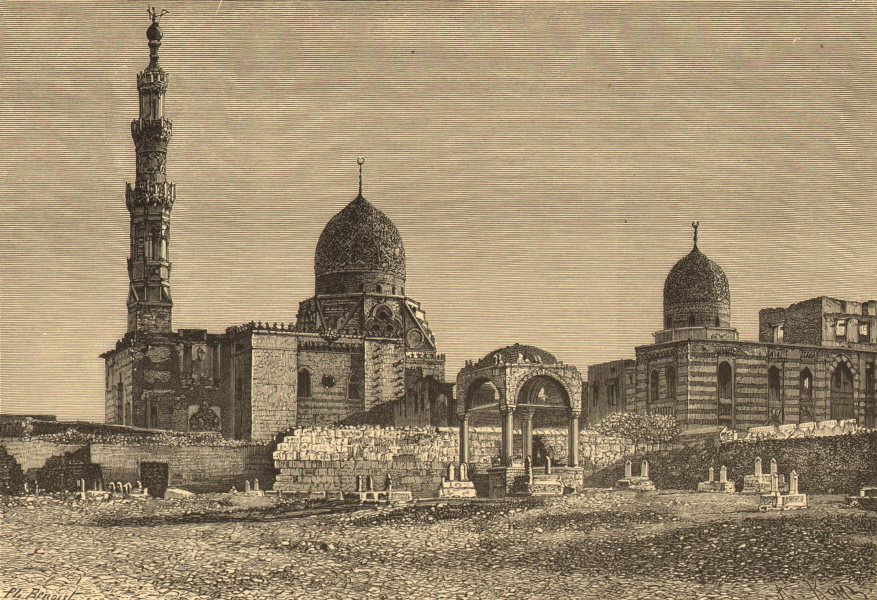 Associate Product EGYPT. Kait-Bey Mosque, Cairo c1885 old antique vintage print picture