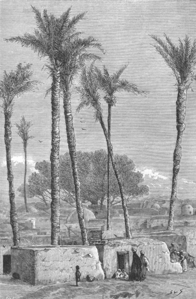Associate Product EGYPT. Village Huts c1885 old antique vintage print picture