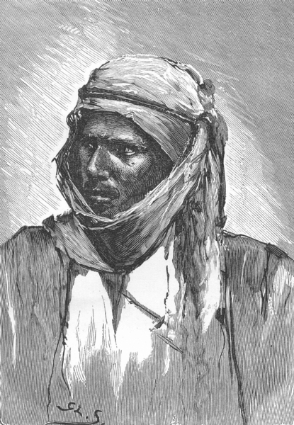 Associate Product NORTH AFRICA. A Bedouin c1885 old antique vintage print picture