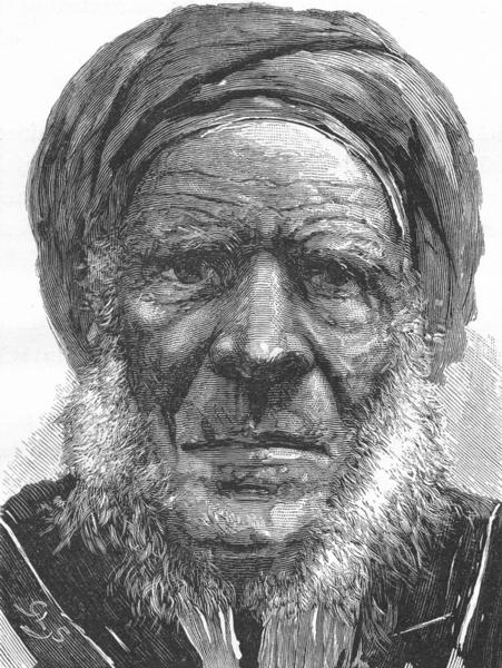 Associate Product EGYPT. A village Sheikh c1885 old antique vintage print picture