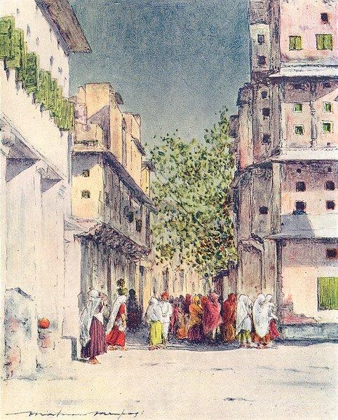 Associate Product INDIA. Through Delhi 1905 old antique vintage print picture