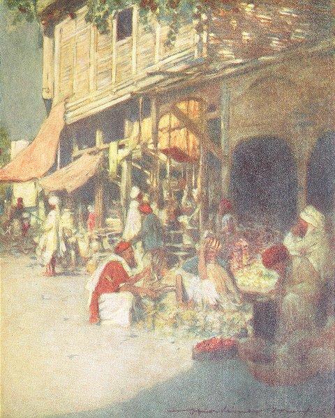 Associate Product INDIA. A rag shop 1905 old antique vintage print picture