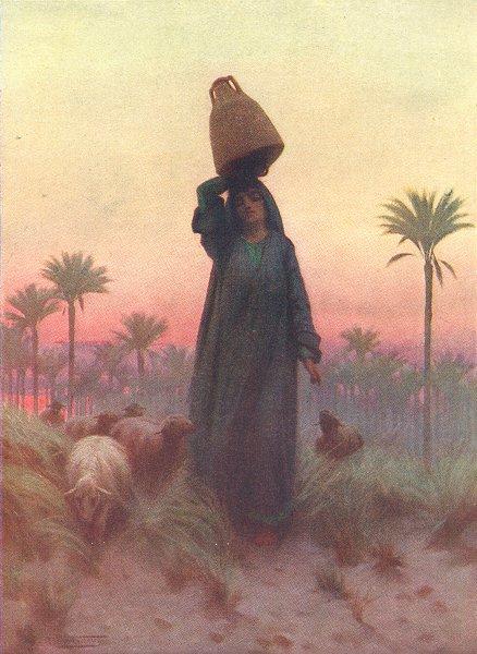Associate Product EGYPT. A Daughter of Mizraim 1912 old antique vintage print picture