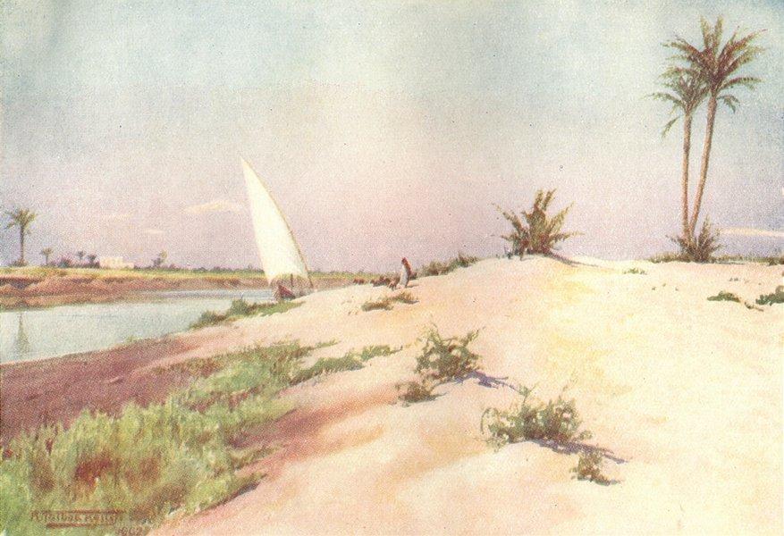 Associate Product EGYPT. Ismailia Canal, Tel-el-Kebir 1912 old antique vintage print picture