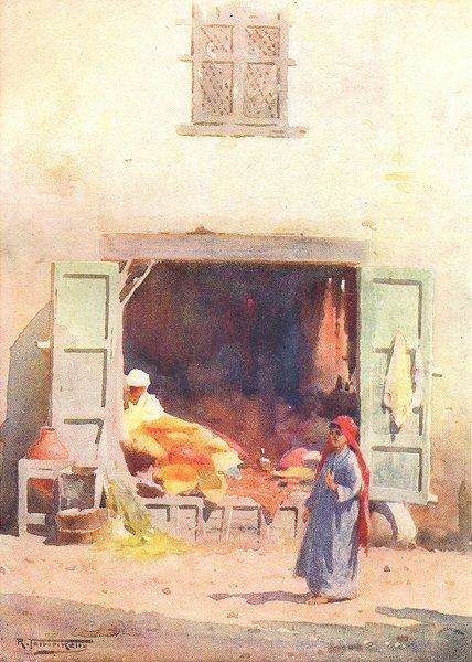 Associate Product EGYPT. A Cairo Shop 1912 old antique vintage print picture