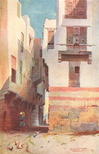 Associate Product EGYPT. A Street in Bulak 1912 old antique vintage print picture