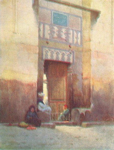 Associate Product EGYPT. A Mosque door, Cairo 1912 old antique vintage print picture