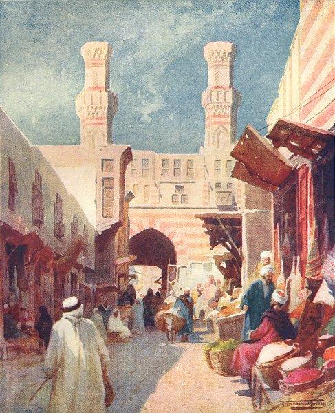 Associate Product EGYPT. The Bab-Ez-Zuweyla 1912 old antique vintage print picture